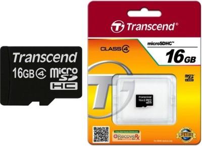 Transcend 16GB MicroSDHC Class 4 (4MB/s) Memory Card