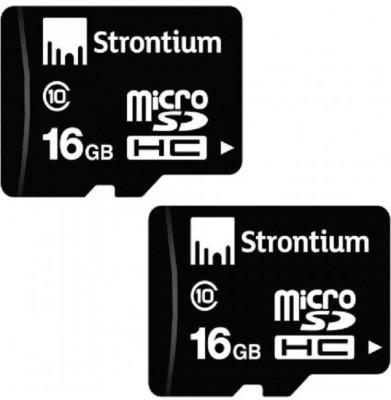 Strontium MicroSD 16 GB MicroSD Card Class 10 10 MB/s Memory Card
