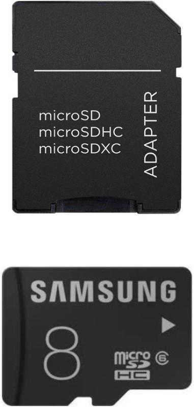 SAMSUNG plain 8 GB MicroSDHC Class 6 24 MB/s  Memory Card