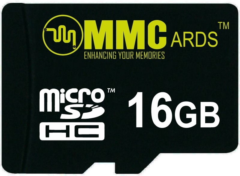 MMC 16 GB MicroSDHC Class 10  Memory Card