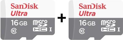 SanDisk Ultra 16 GB MicroSDHC Class 10 48 MB/S  Memory Card