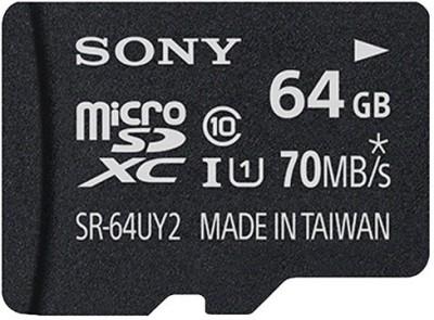 Sony 64 GB MicroSDXC Class 10 70 MB/s Memory Card