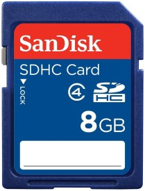 SanDisk SD 8 GB SD Card Class 4 20 MB/s Memory Card