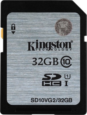 Kingston UHS-I 32 GB SDHC Class 10 80 MB/s Memory Card