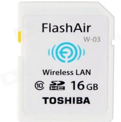 Toshiba Wireless Lan 16 GB SDHC Class 10 20 MB/s Memory Card