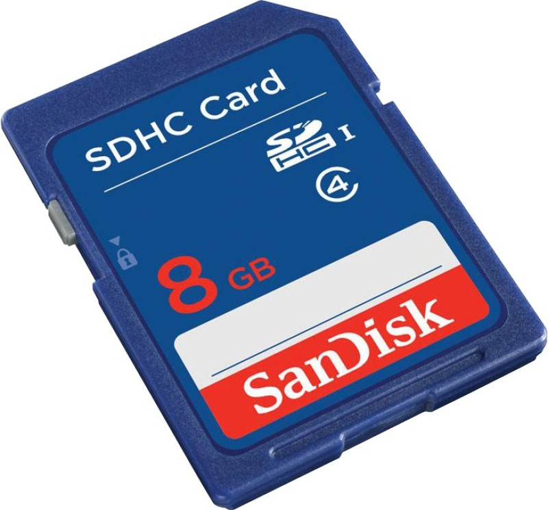 SanDisk 8 GB SDHC Class 4  Memory Card