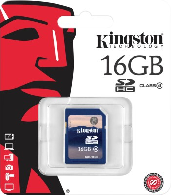 Kingston 16 GB SDHC Class 4 4 MB/s Memory Card