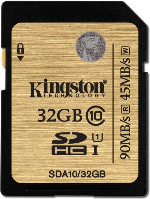 Kingston 32 GB SDHC Class 10 90 MB/S Memory Card