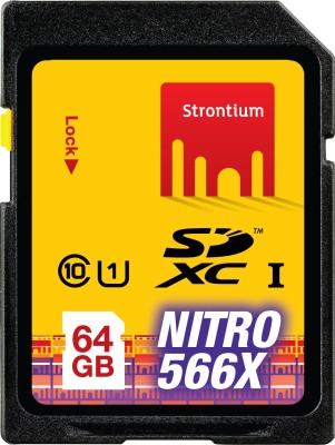 Strontium Nitro 64GB Class 10 566x SDXC Memory Card
