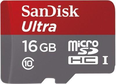 SanDisk Ultra 16 GB Ultra SDHC Class 10 80 MB/s Memory Card