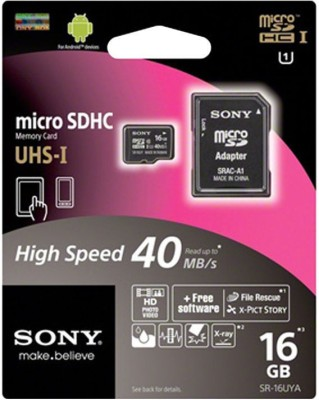 Sony Ultra 16 GB Ultra SDHC Class 10 40 MB/s Memory Card