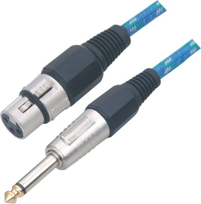 MX MX XLR FEMALE 3 PIN MIC TO P-38 MONO JACK CABLE (TIP GOLD PLATED) Cable