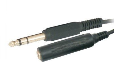 Krown 6.3mm Stereo Male To 6.3mm Stereo Female Extension Cable 1.5 Meter Cable(Black)