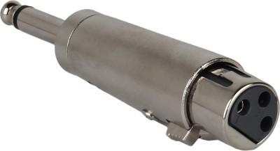 Prodx 6.35mm Mono Male Plug to 3-Pin XLR Female Audio Converter Mic Adapter(Silver)