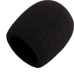 Prodx Windscreen Microphone Foam Black Pack Of-2pcs shield cover