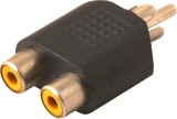 Prodx rca male to 2rca female pack of-2p...
