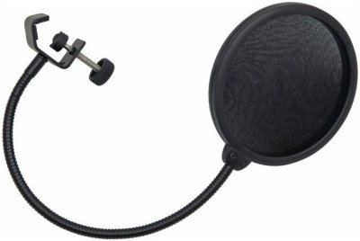 MX Pop Filter Studio Microphones stand Swivel Mount Flexible Gooseneck holder Microphone Holder(Black)