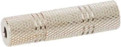 Krown 3.5mm (Earphone) Stereo Female To 3.5 Mm (Earphone) Stereo Female Jointer Connector - Metal - Pack Of 2 Converter(Black)