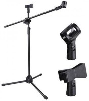 PowerPak Adjustable Stage Tripod Boom with 2 Clips Adjustable stage microphone tripod boom stand