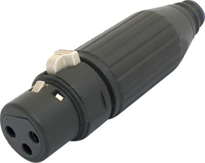 MX XLR 3 PIN FEMALE HEAVY DUTY - BLACK Connector(Black)