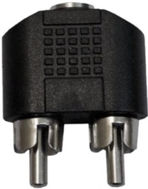 Prodx 2RCA male to 3.5mm Female Jack pack of-2pes connector