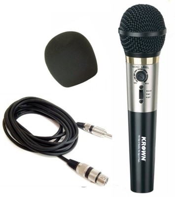 Krown General PA Series XLR Wired Unidirectional Dynamic Mic with in-Built Echo Function Microphone