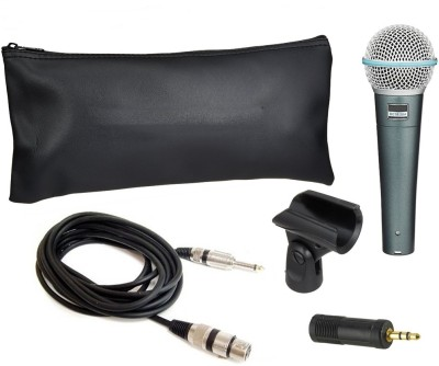 Krown Beta-58 Dynamic Karaoke Mic With 3.5mm Connector For Laptop/Pc Microphone