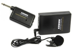 Krown Economical Series Tie/Collar Wireless Mic for Camera, Smartphones, Tablet, PC recording Microphone