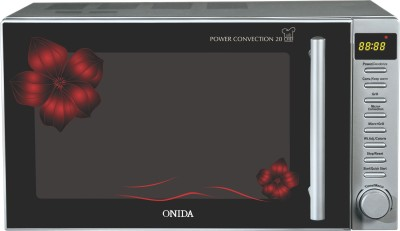Onida 20 L Convection Microwave Oven (MO20CJS26F, Black & Red Floral)