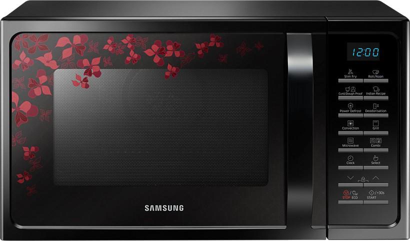 Samsung 28 L Convection Microwave Oven Mc28h5025vb Tl Black Sanganeri Pattern