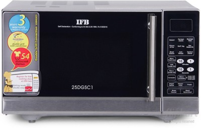 IFB 25 L Convection Microwave Oven(Double Grill 25 DGSC1, Silver)