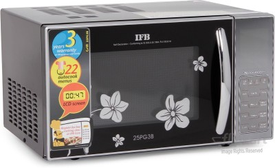IFB 25 L Grill Microwave Oven(25PG3B, Black)