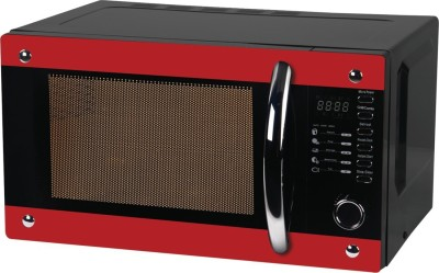 Haier 20 L Convection Microwave Oven (HIL2001CBSH, Black Red)