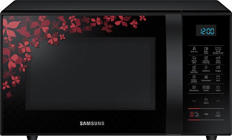 Samsung 21 L Convection Microwave Oven Ce77jd Sb Xtl Black Sanganeri Pattern
