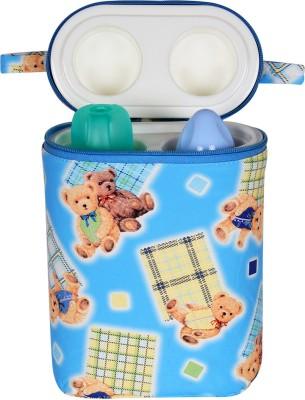 Ole Baby Bunny Print Double Portable Infant Feeding Milk Food Bottle Thermal Warmer Holder (Upto 250ml each)