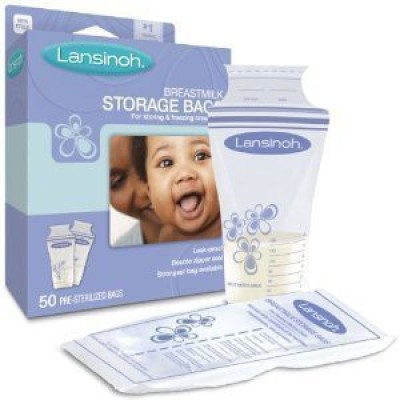Lansinoh Breast Milk Storage Bag(White, Blue)