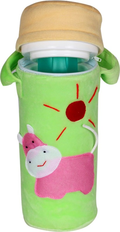 Ole Baby 3D Pop Out Plush Soft Toy Single Portable Infant Feeding Milk Food Bottle Thermal Warmer Holder (Upto 250ml each)(Pack of 1, Beige, Green)