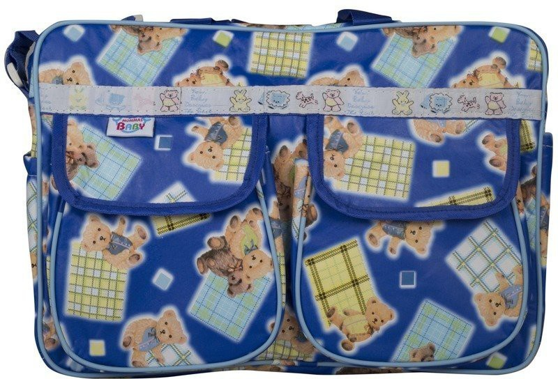 Mommas Baby Multi Colour Mother Bag(Pack of 1, Blue)