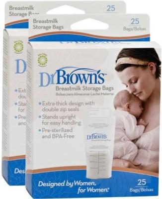 Dr. Browns Breastmilk Storage Bags(Pack of 2, White)