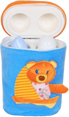 Ole Baby 3D Pop Out Plush Soft Toy Double Portable Infant Feeding Milk Food Bottle Thermal Warmer Holder (Upto 250ml each)(Pack of 1, Blue)