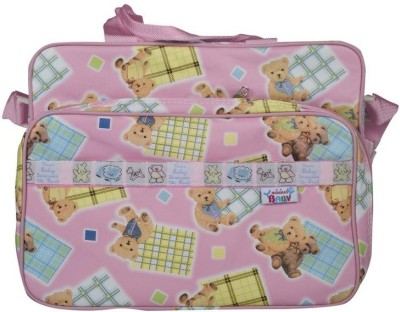 Mommas Baby Multi Colour Mother Bag(Pack of 1, PINK)
