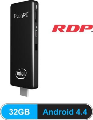 RDP PlugPC-05 - Android 4.4, Intel, intel atom quad core SOC, 2 GB DDR3, 32 GB emmc 2 Stick PC(Black)