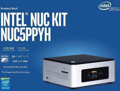 INTEL NUC5PPYH - DOS, N3700, N3700, 0 GB Graphics Card, 0 GB DDR3, 0 GB SATA 2.5
