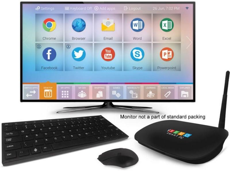 Irevo Smart Mini PC Quad Core CPU with Microsoft Office and Wireless Keyboard plus Mouse - Android 4.4.2, ARM9, Quad Core ARM 1.4 GHz, 1 GB DDR3, 16 GB Flash Memory 1 Mini PC(Black)
