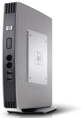 HP T5740 - Windows Embedded Xp 2009, Intel 945GSE, Intel Atom N270 1.6 GHz, 16 MB Graphics Card, 1 GB DDR3, 2 GB SDD 1 Mini PC(Silver, Black)
