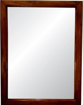 SDG Red Teak Wood Decorative Mirror