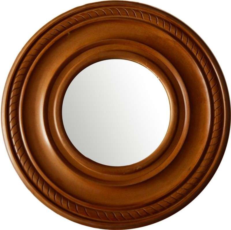 Hallmarc Mdf Designer Polished Mirror (Round) - 24x24 Bathroom Mirror(Round)