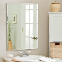 SDG M-126 Bathroom Mirror(Rectangle Finish : Cerium IV Oxide)