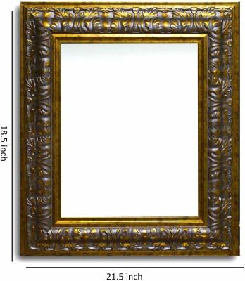PaintingMantra The Gold Royal Tusk Wall Mirror Wooden Jharokha