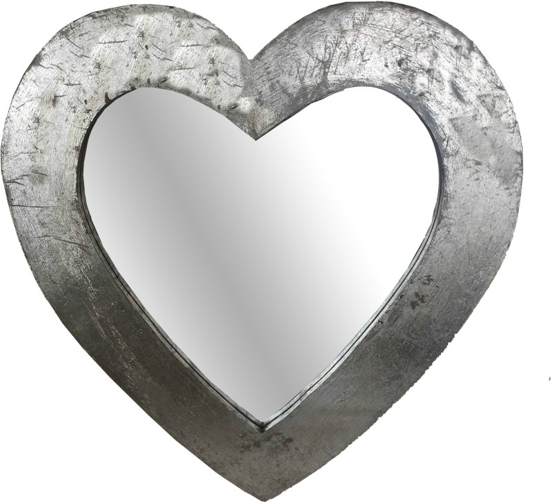 Salt & Grey Interiors SG105001 Decorative Mirror(Heart Finish : Anitique Silver Finish)